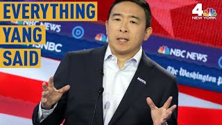 Everything Andrew Yang Said at the Democratic Debate in Atlanta | NBC New York