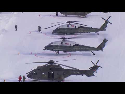 President Trump Landing in Davos/Switzerland 2018