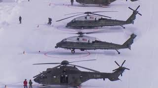 President Trump Landing In Davos/Switzerland