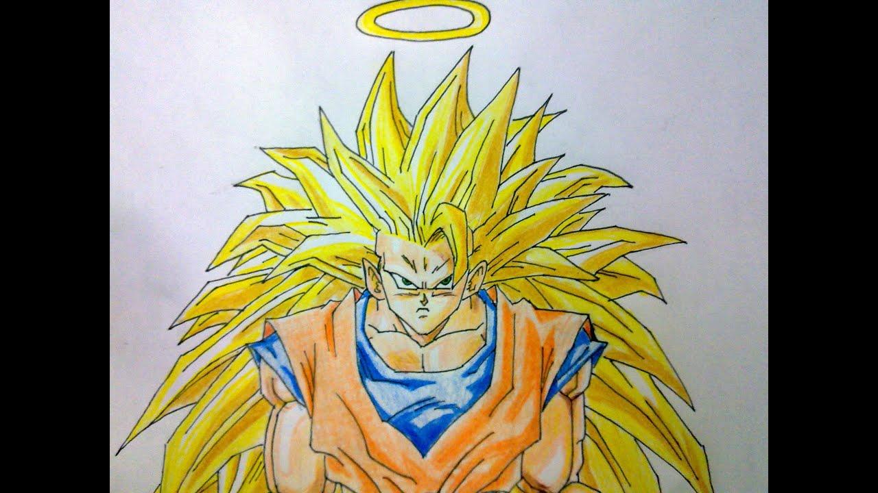 Como dibujar a Goku SSJ3 paso a paso  YouTube