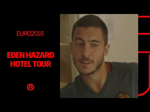Eden Hazard guides you through the Belgian Red Devils' hotel !