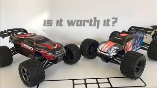 New Traxxas E-Revo VXL vs. Old E-Revo Brushless Edition SIDE BY SIDE Comparison | Overkill RC