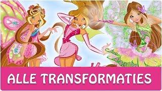 Winx Club - Alle volledige transformtaties van Flora!