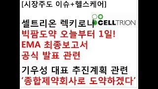 [시장주도 이슈+헬스케어]셀트리온 렉키로나빅팜도약 오늘…