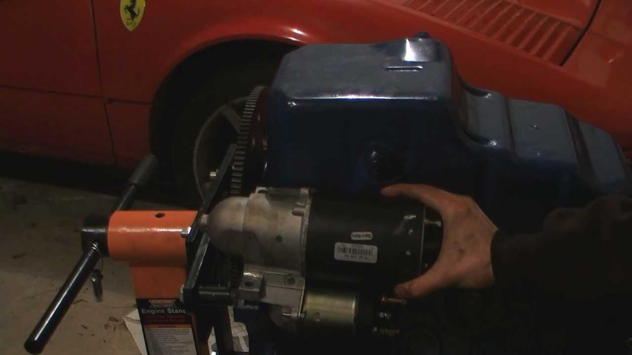 Pontiac Fiero 34 Pushrod Starter Relocation Conversion And Kes Flexplate Installation