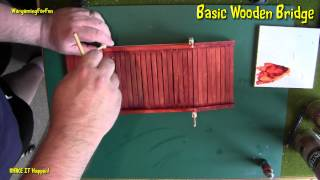 Basic Wooden Bridge Pt 3 - Wargaming Terrain - Make It Happen