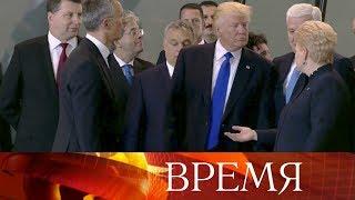 Президент США Дональд Трамп насаммите НАТО вБрюсселе потребовал отсоюзников «вернуть долги».