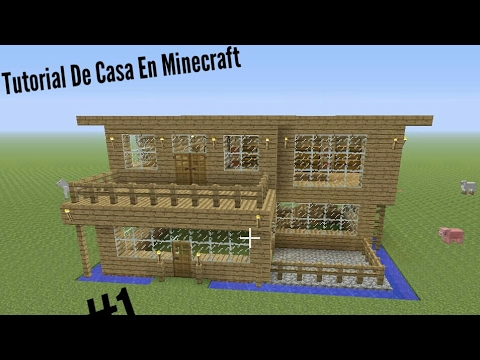Casa bonita en minecraft - Como hacer casa de madera ...