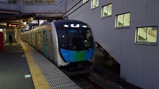 西武40000系 40106F 東伏見駅到着~発車 '19.11.13