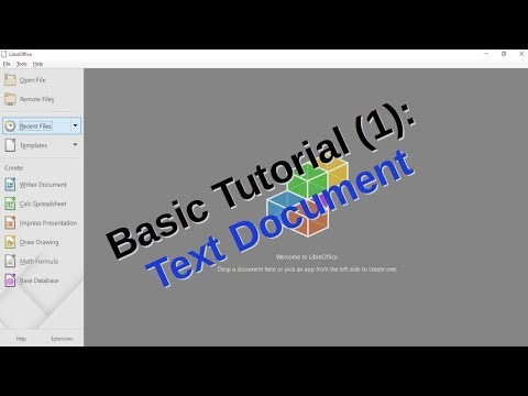 LibreOffice Basic Tutorial (1): Create Basic Text Document with Writer, Font and Language Setting