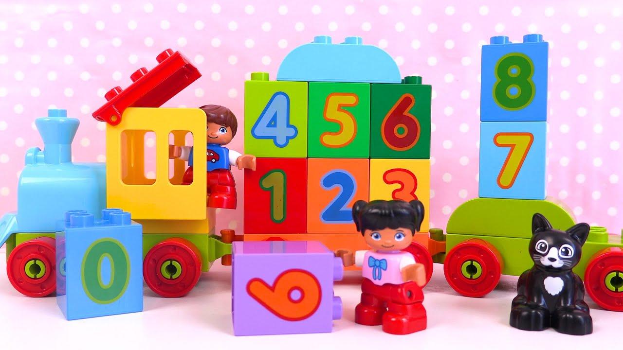 Apprendre les Chiffres en Français Lego Duplo Learn Numbers