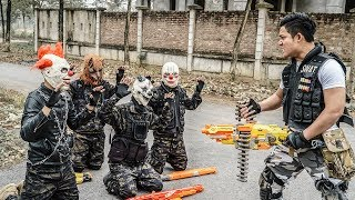 LTT Films : Warriors Silver Flash Nerf Guns Fight Weapon Protection Crime Group Tiger Mask 2