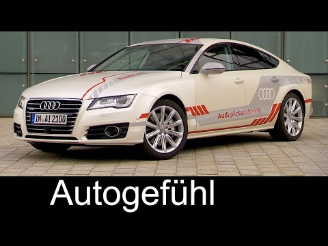 Audi new Autonomous Driving tests in Audi A7 concept Piloted Driving - Autogefühl