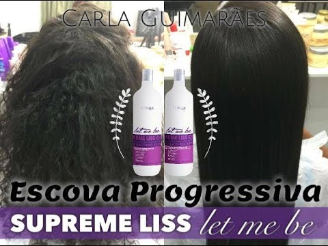 Passo a passo Supreme Liss Let Me Be - liso na primeira apli