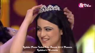 RadhikaMadan ShaktiArora at indian telly awards 2015
