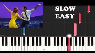 La La Land - Mia & Sebastian's Theme (SLOW EASY PIANO TUTORIAL)
