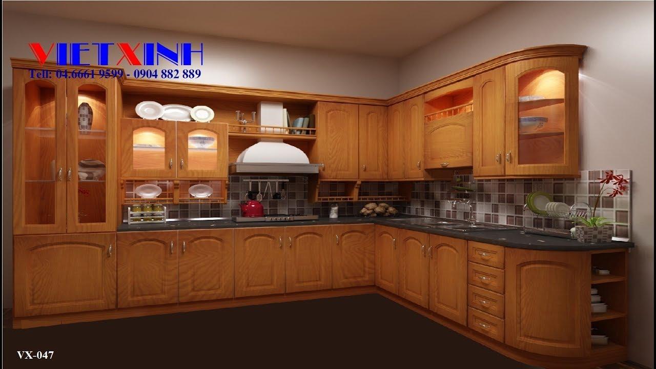 20 mẫu tủ bếp xoan đaog Hoàng Anh Gia Lai