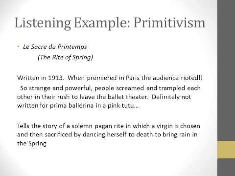 Lecture on Primitivism