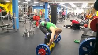 Становая тяга с ямы 110 кг на 5 раз  18 03 2016
