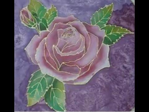 Silk painting rose youtube silk painting rose mightylinksfo