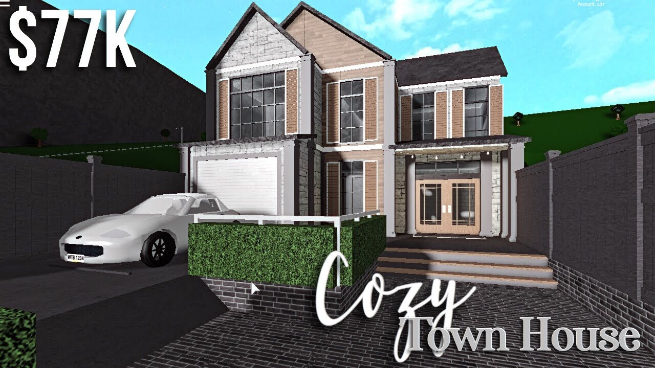 Cozy Town House Bloxburg Roblox Gamingwithv Youtube