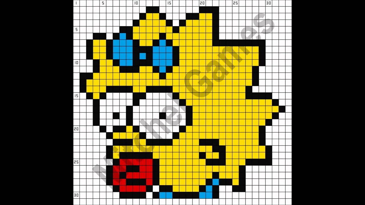 Minecraft Maggie Simson 33x31 Pixel Template Youtube