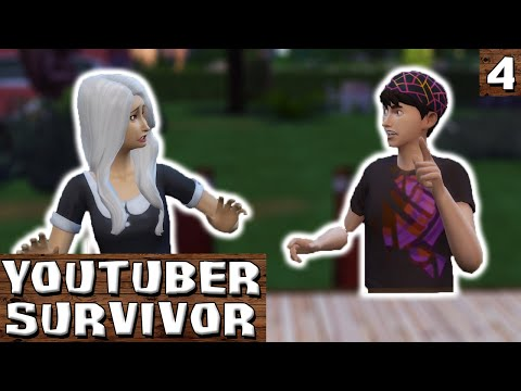 FIST FIGHT! - YouTuber Survivor - Episode 4 | The Sims 4