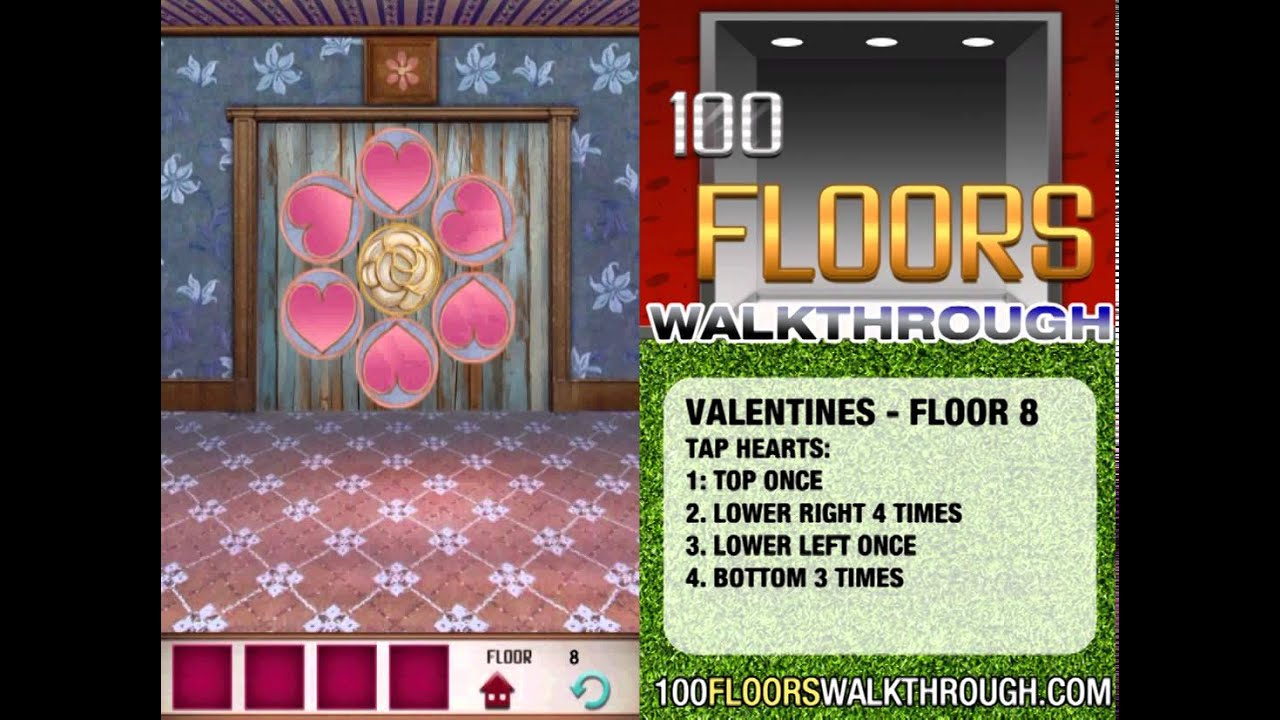 How To Beat Level 5 On 100 Floors Seasons Valentines