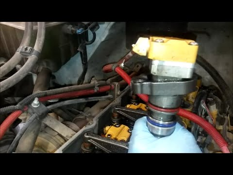hqdefault how to change a cat 3126, c9, or c7 injector youtube 3126B Oil Cap at mifinder.co