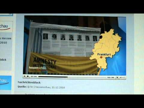 YARAN IHR SEID NICHT ALLEIN !  Mahnwache Frankfurt, Beitrag hr | hessenschau 11.12.2010