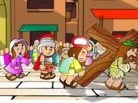 cantinho da criança jesus carrega a cruz youtube
