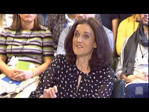 Environment Secretary Theresa Villiers at the EFRA committee session
