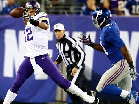 Josh Freeman Highlights: Vikings Starting The QB v NY Giants A Mistake