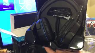 Afterglow Lvl 3 PS4 headphone Unboxing/mic test