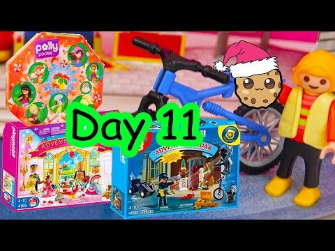 Polly Pocket, Playmobil Holiday Christmas Advent Calendar Day 11 Toy Surprise Opening Video
