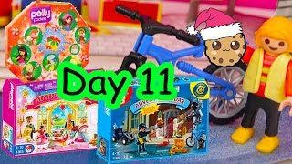 polly pocket playmobil holiday christmas advent calendar day 11 toy surprise opening video
