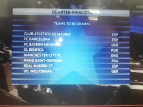 UEFA CHAMPIONS LEAGUE Quarter-final Draw 18 March 2016