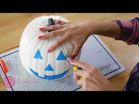 Using Oramask To Stencil And Carve A Pumpkin