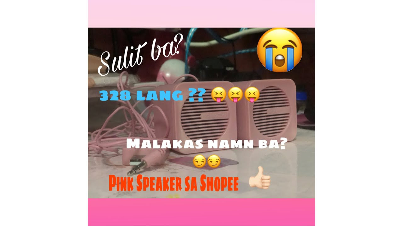 Murang Speaker sa Shopee?  | Sonicgear  BlueCube |  Pink Speaker PC/Mobile | Unboxing & Sound Check