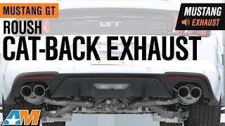 2018-2019 Mustang GT Roush Cat-Back Exhaust Sound Clip & Install