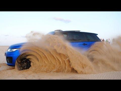 Zandhappen met de Range Rover Sport SVR in de Woestijn!!