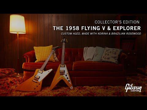 The Gibson 1958 Flying V and Explorer