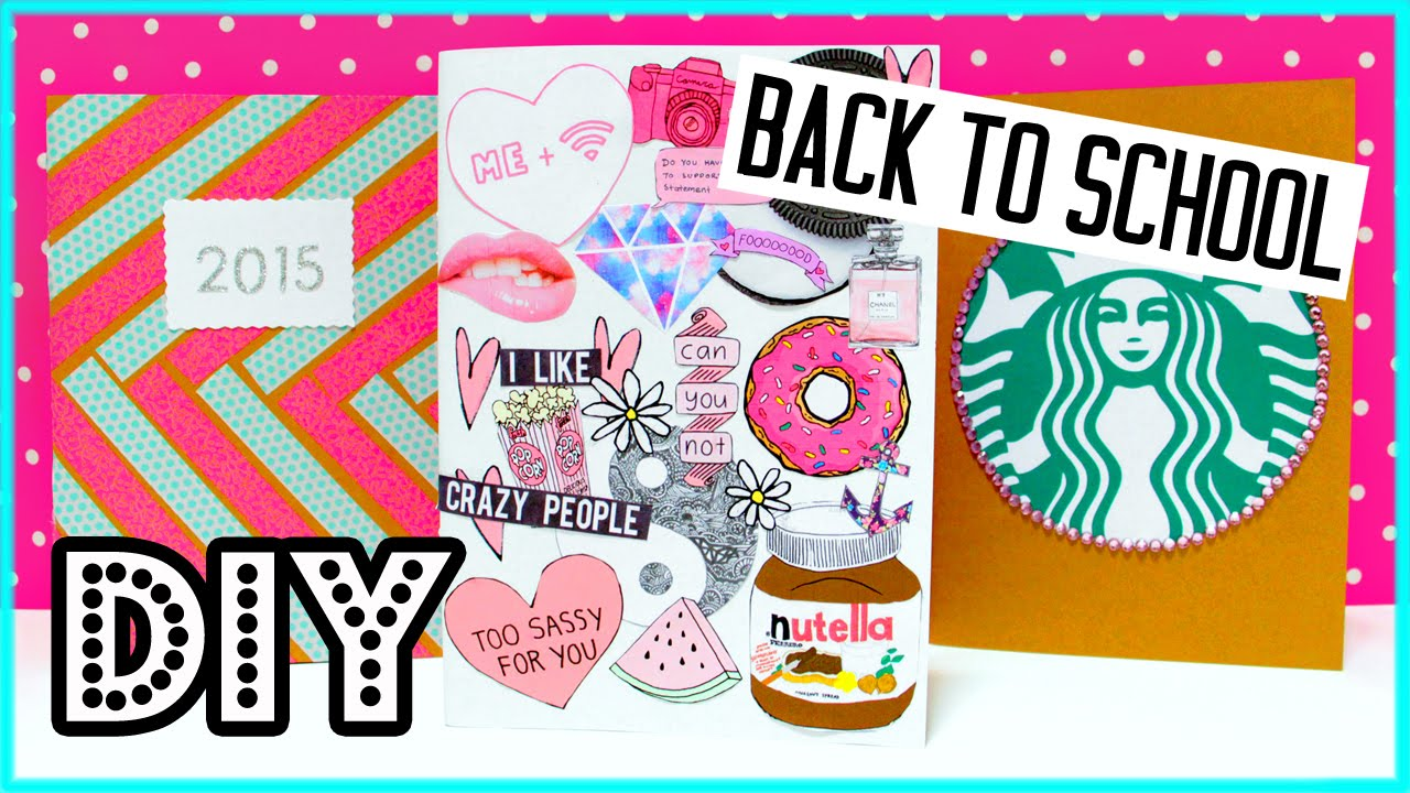 Back To School Book Cover Ideas ~ Diy notebooks for back to school supplies starbucks
