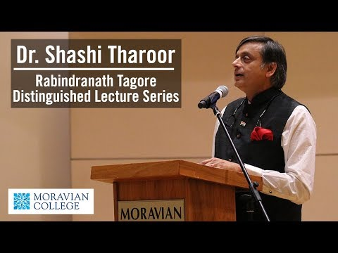 Dr. Shashi Tharoor at Moravian College