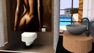 la maison sims 3  moderne et surtout design!!:)