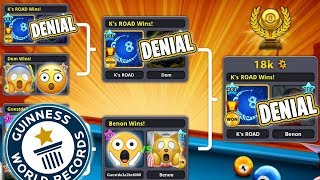 I WON a Tournament Doing only DENIALS - WORLD RECORD - 8 Ball Pool - GamingWithK