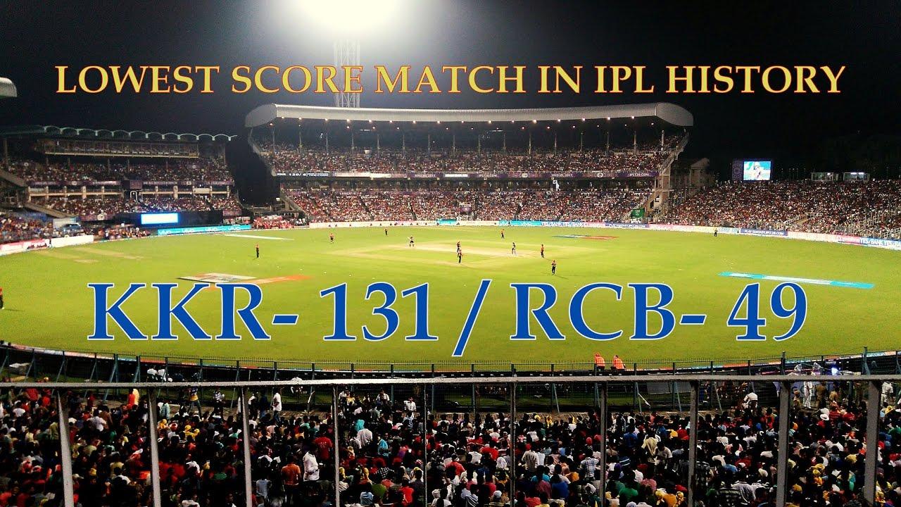 KKR VS RCB MATCH IPL 2017    LOWEST SCORE IN IPL HISTORY ...