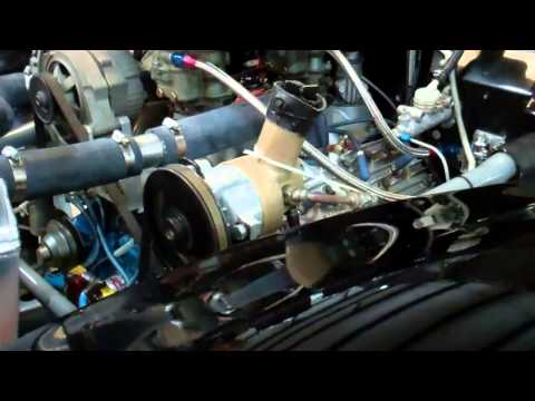 Flathead Ford Modified Race Engine Warming Up - Bill's #2