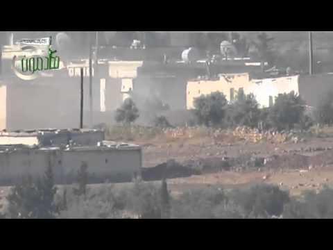Syrian tank blown up by rebel armoured vehicle in Aleppoиз YouTube · Длительность: 1 мин24 с