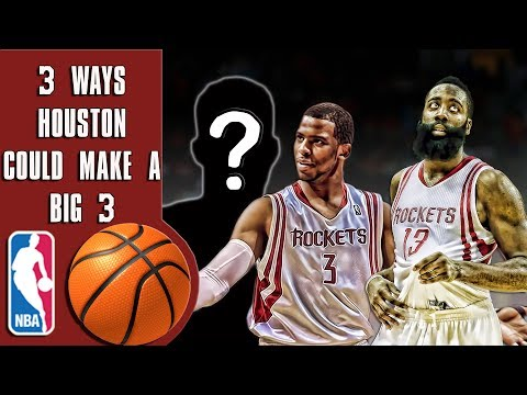 3 ways the Rockets can create a big 3 with Chris Paul and James Harden!